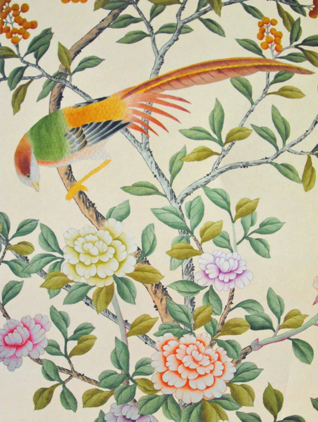 Wallpapers Asian Chinoiserie Chinoiserie Paper Birds Chinoiserie 1112x1477