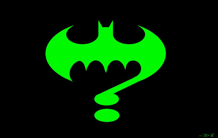 Riddler Question Mark Riddler style bat signal by 900x571