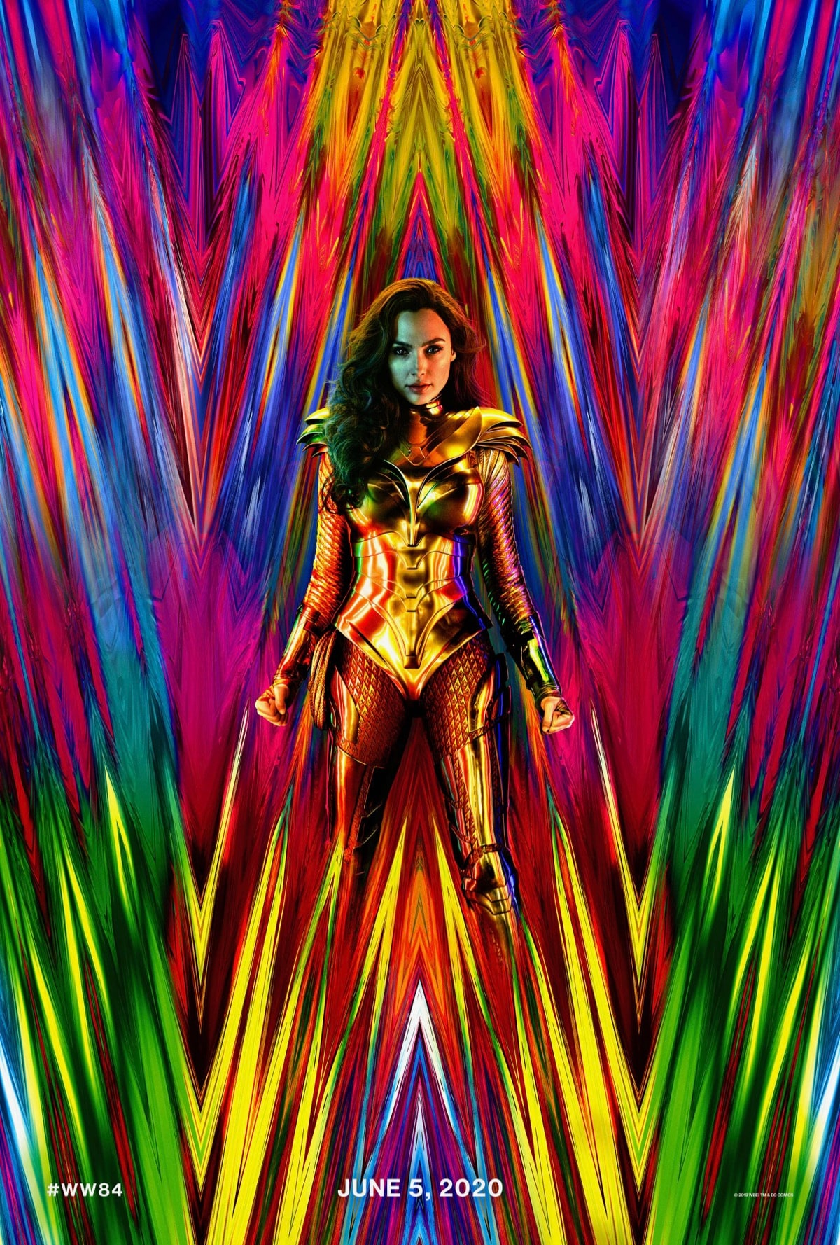 Wonder Woman 1984 Poster Shows Off Gal Gadots New Gold Costume 1200x1778