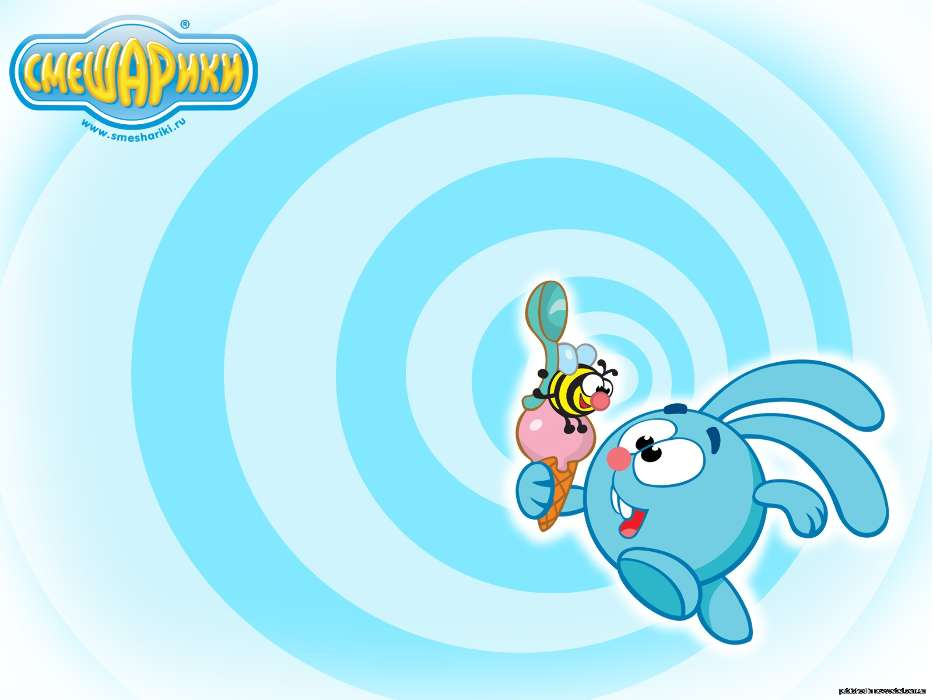 Download mobile wallpaper Cartoon Rabbits Smeshariki 15808 933x700