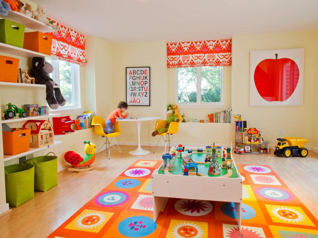 Kids Playroom With Bright Colors 1024x768