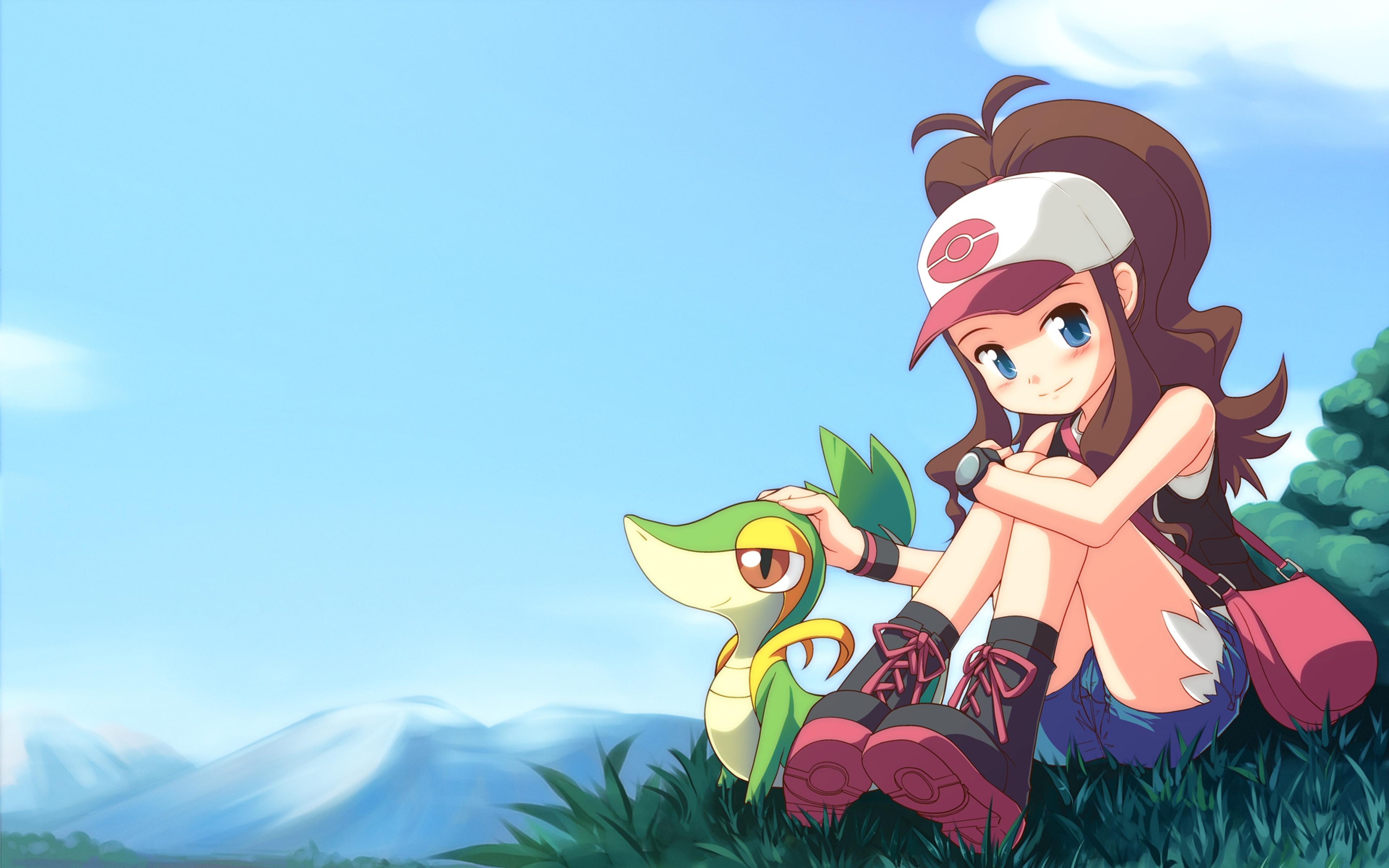 Download Wallpaper 3840x2400 Pocket monster Pokemon Girl Hat Being 3840x2400