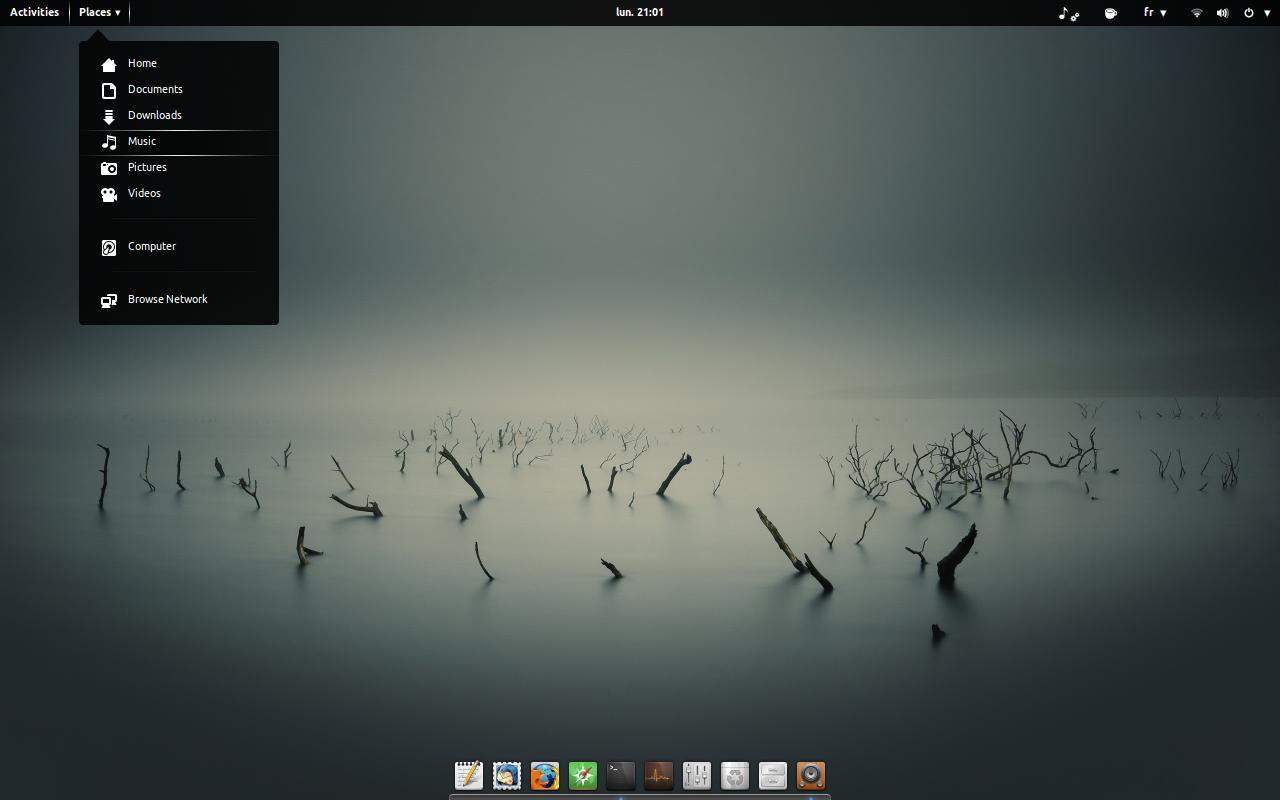 Ubuntu Gnome 1404 1280x800