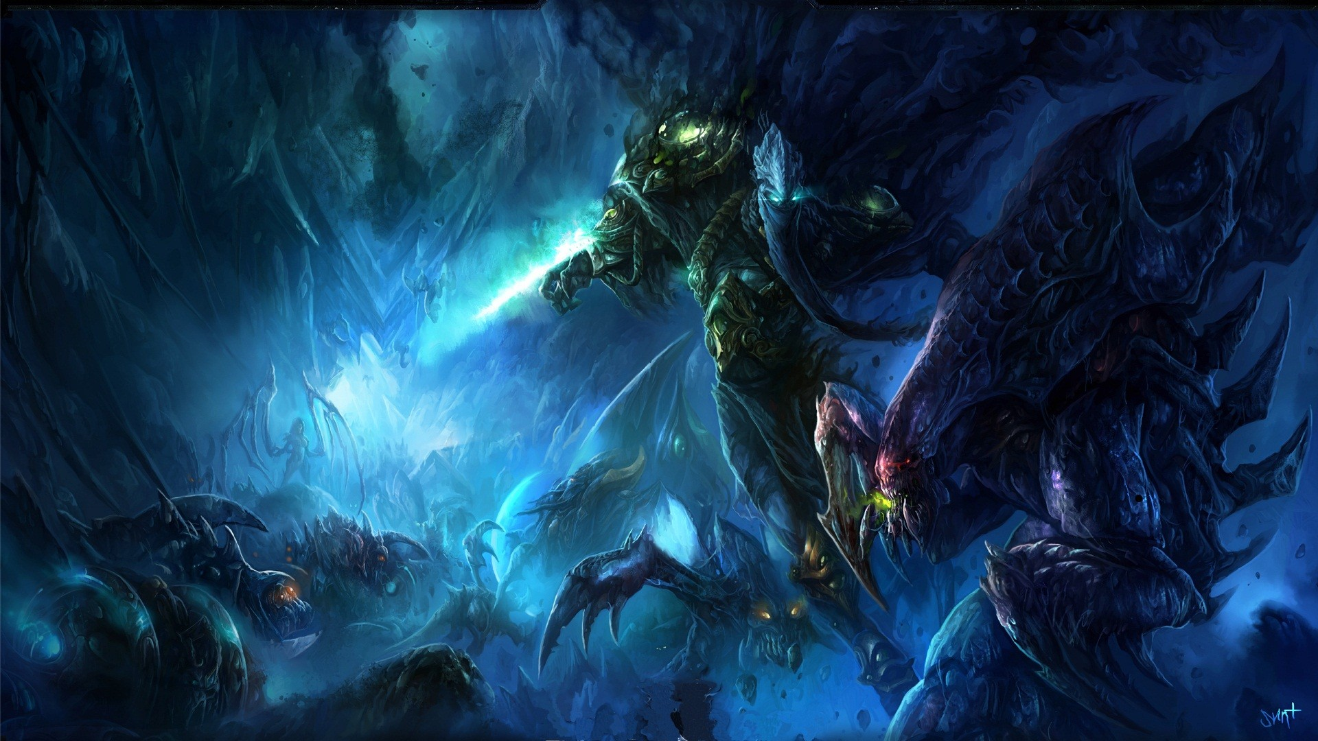 download Download Wallpaper Zerg vs Protoss Starcraft 2 1920x1080