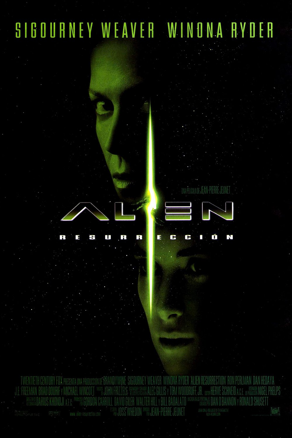 Alien Resurrection movie trailer cast posters and hd wallpapers 1000x1500