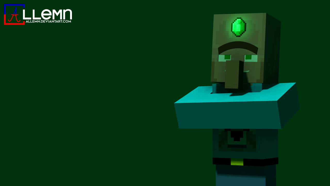 Wallpaper] Emerald Villager   Wallpapers and art   Mine imator forums 1280x720