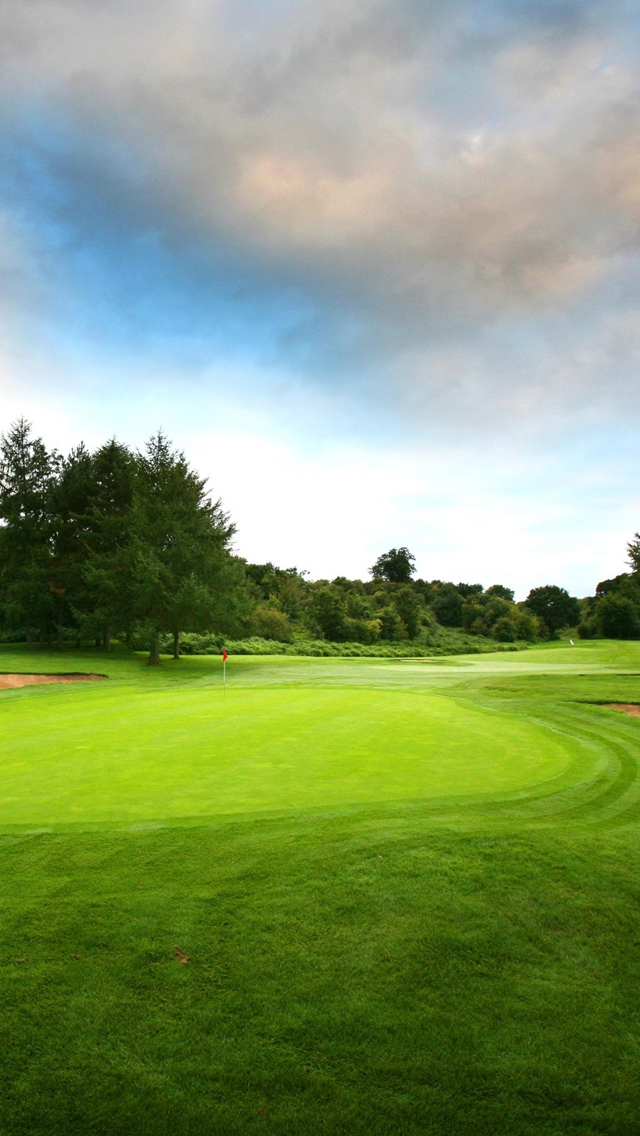 search green golf iphone wallpaper tags cloud golf green sky trees 640x1136