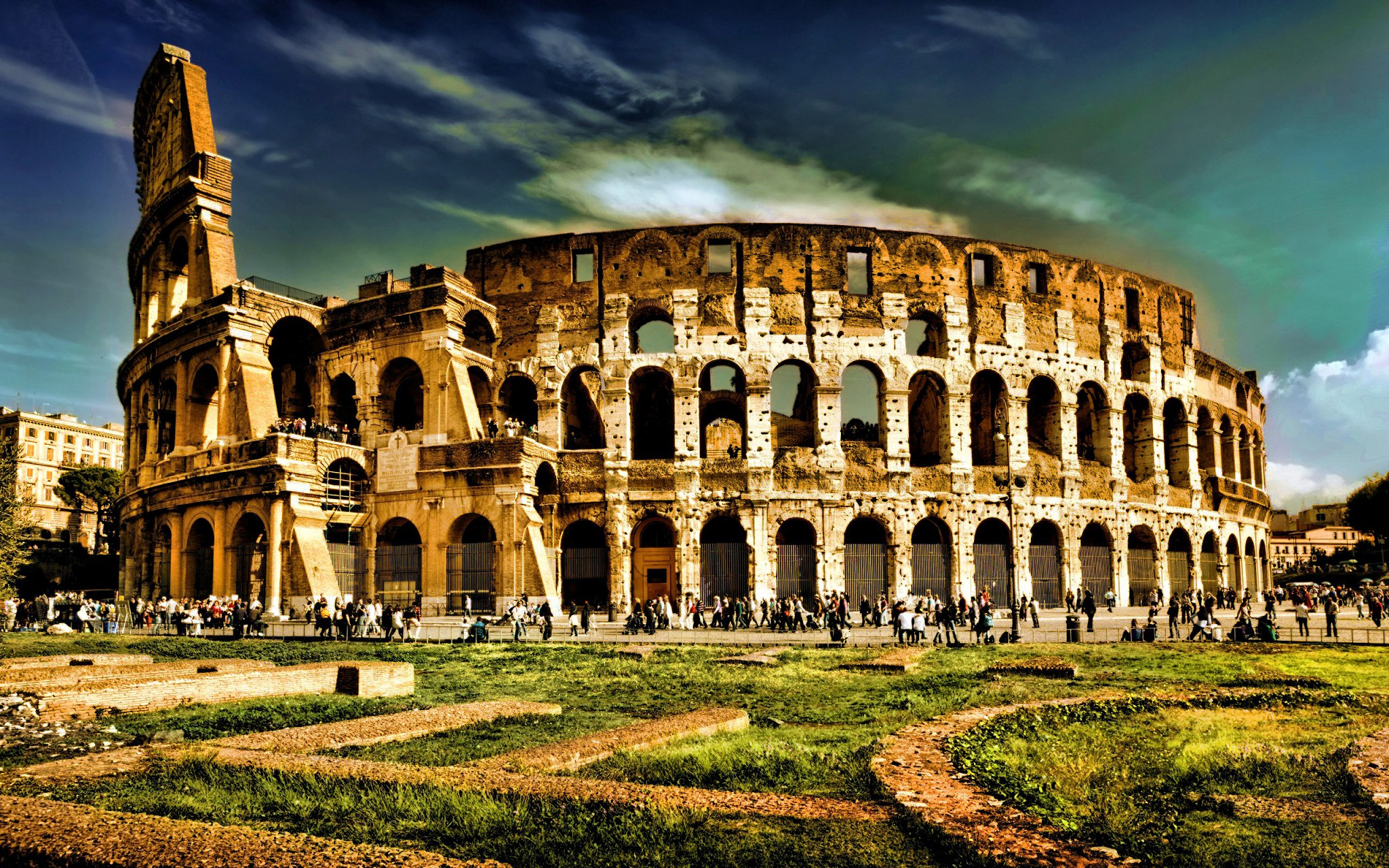 Amazing Roma City Wallpaper HD Wallpaper WallpaperLepi 2048x1280