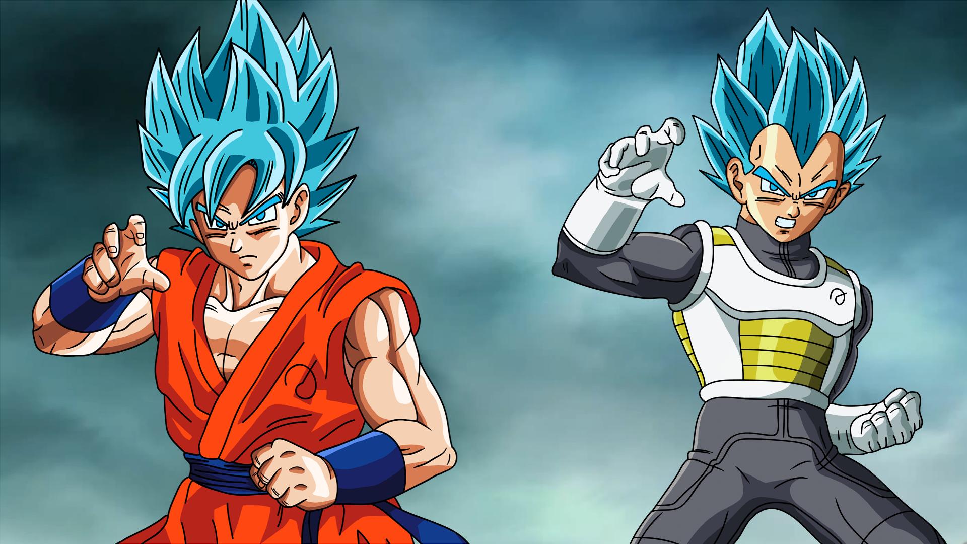 Free Download Goku And Vegeta Fukkatsu No F Ssjgod Ss Wallpaper By