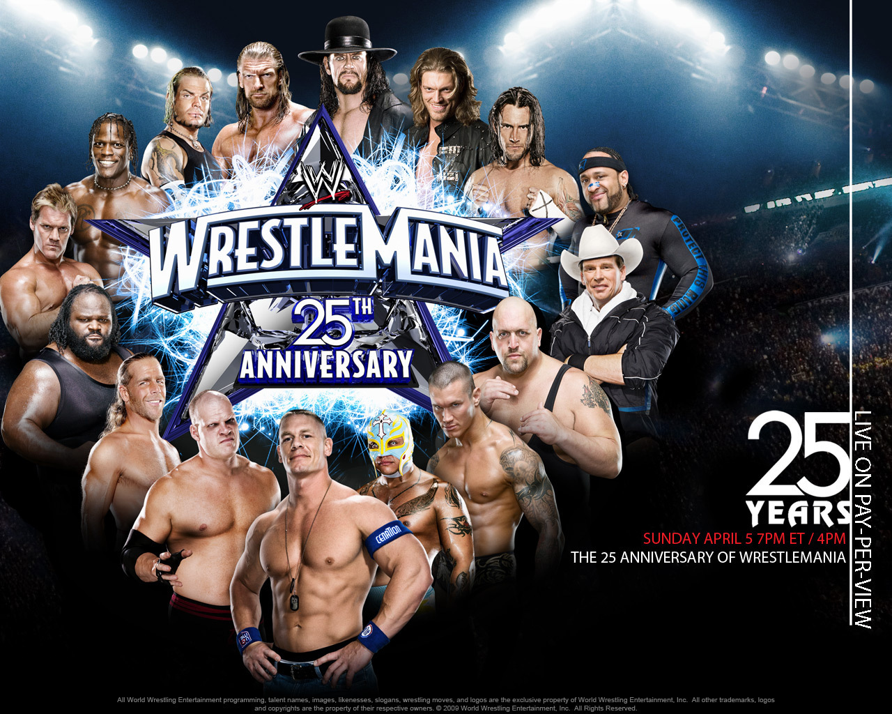 Professional Wrestling images WrestleMania XXV wallpaper photos 1280x1024