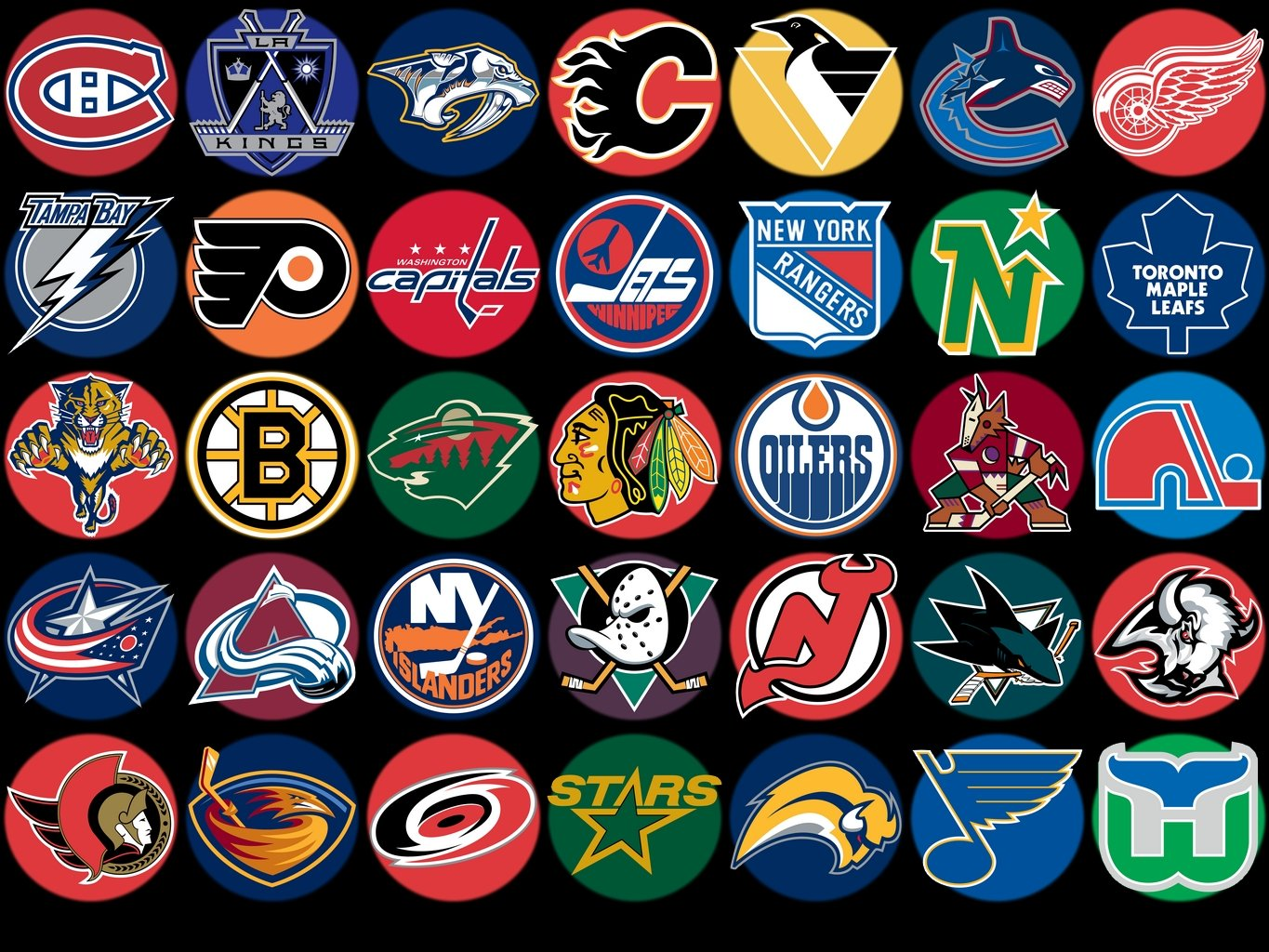 hockey league NHL HD Wallpapers HD wallpapers NHL Teams Logo 1365x1024