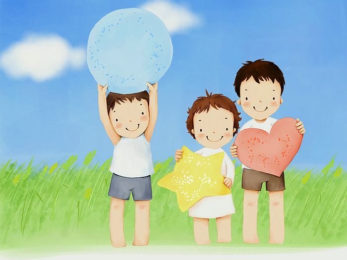 Fun   Childrens Day Art Wallpaper Little brothers and sisters 11 700x525
