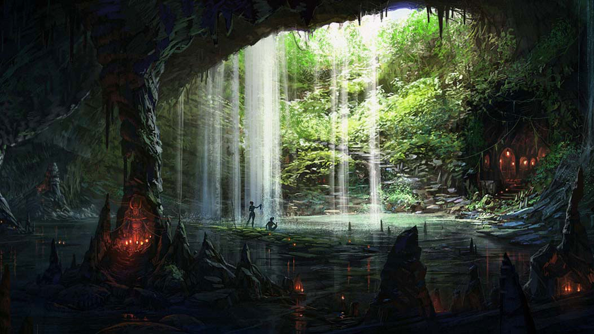 Coders Wallpaper Abyss Explore the Collection Caves Earth Cave 145521 1920x1080