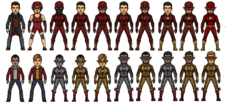 CW Flash and Kid Flash Evolution Concept by TheArrowverse on 772x351