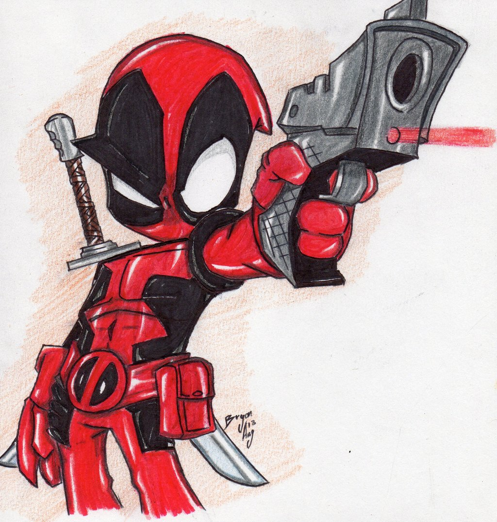 Chibi Deadpool Wallpaper - WallpaperSafariDeadpool Sketch