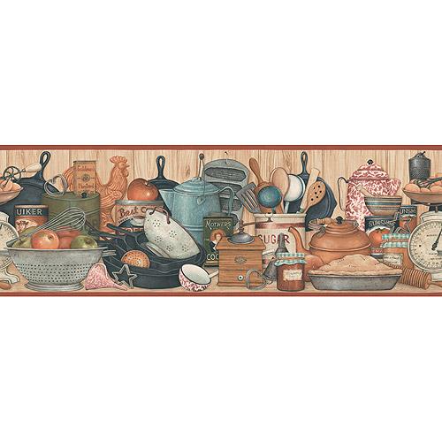 Blue Mountain Vintage Kitchen Shelf Wallpaper Border   Walmartcom 500x500