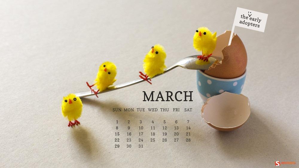Download Smashing Magazine Desktop Wallpaper Calendar March 2015 1000x562