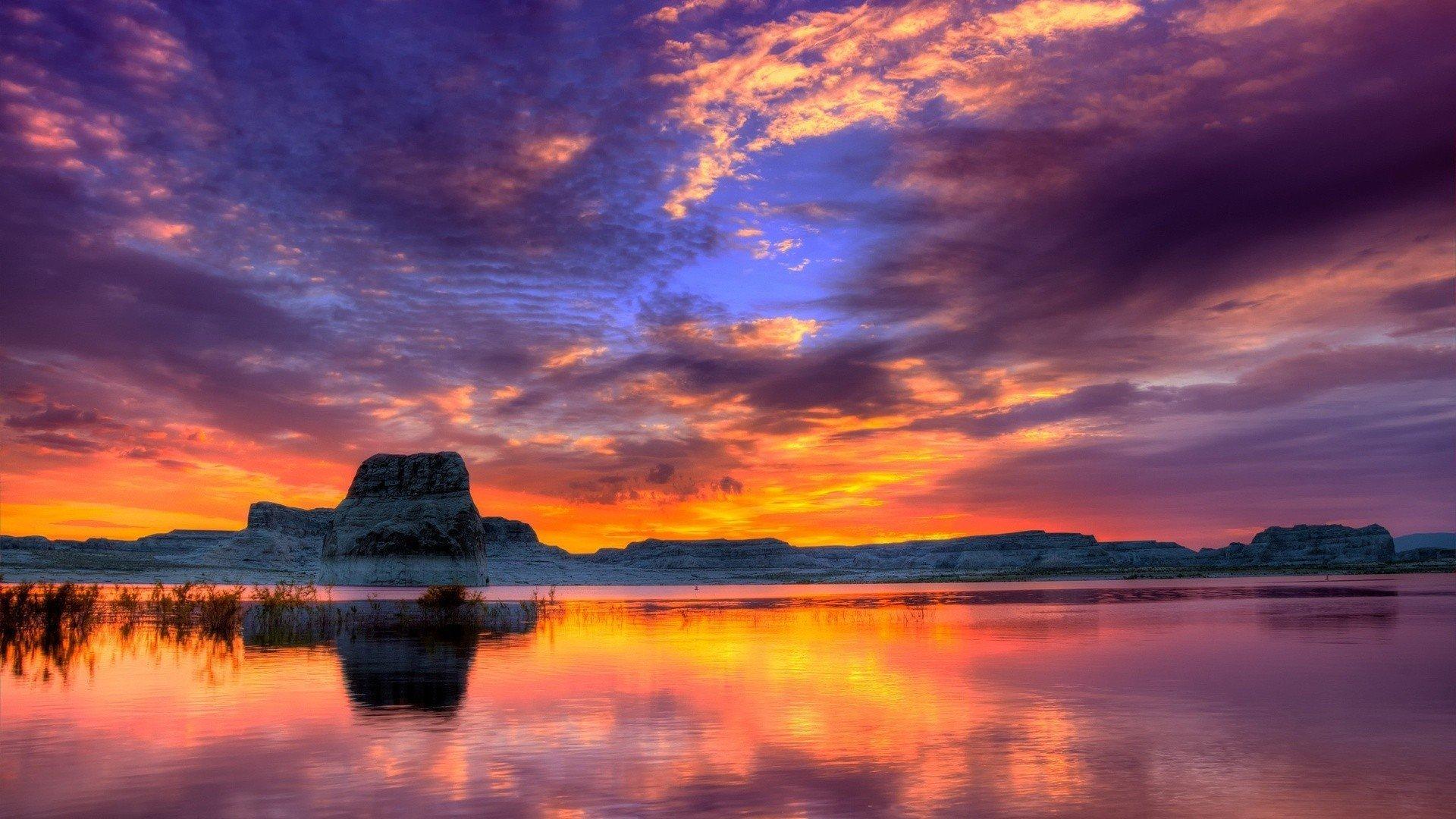 nature lake sunset landscape ultrahd 4k wallpaper wallpaper background 1920x1080