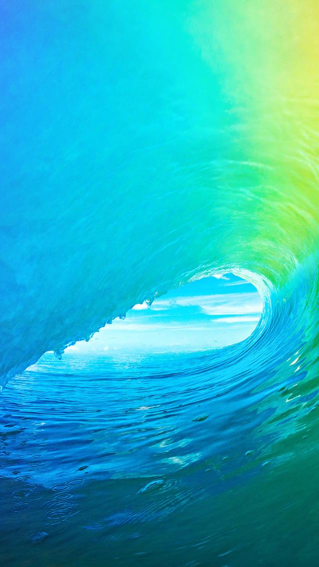 Apple Ocean Wave Rainbow Pattern iPhone 5s Wallpaper Download iPhone 640x1136