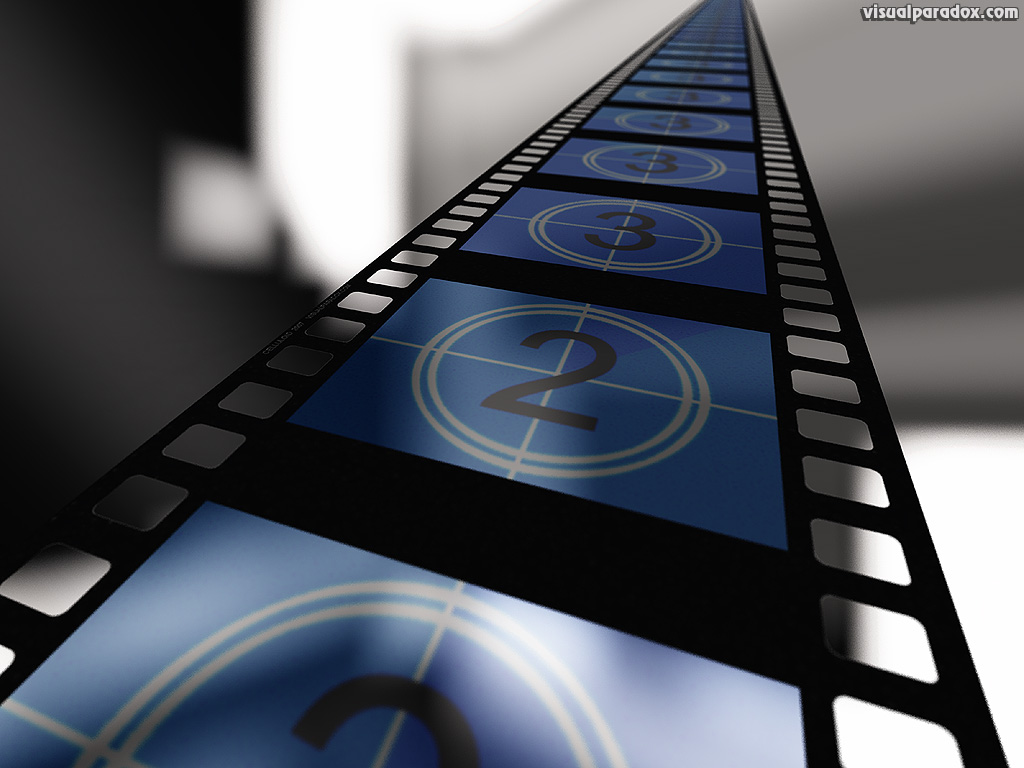 cinema movies film strip motion picture count video clips show blue 1024x768