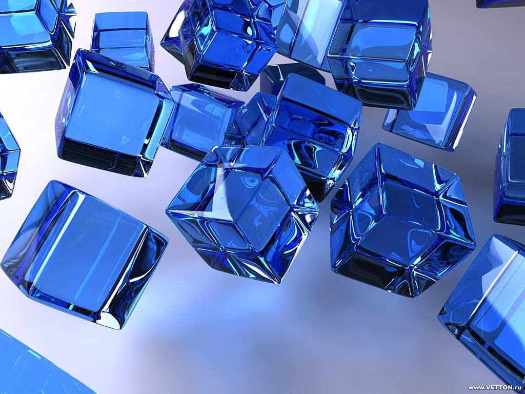 Cubes Blue 1024X768 3D Wallpaper World Wallpaper Collection 1024x768