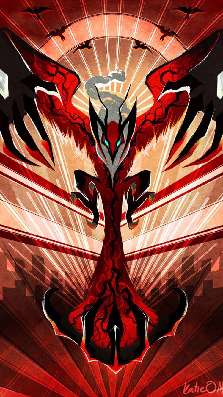Yveltal pokemon legendario de la sexta generacin pokemon tipo 750x1334
