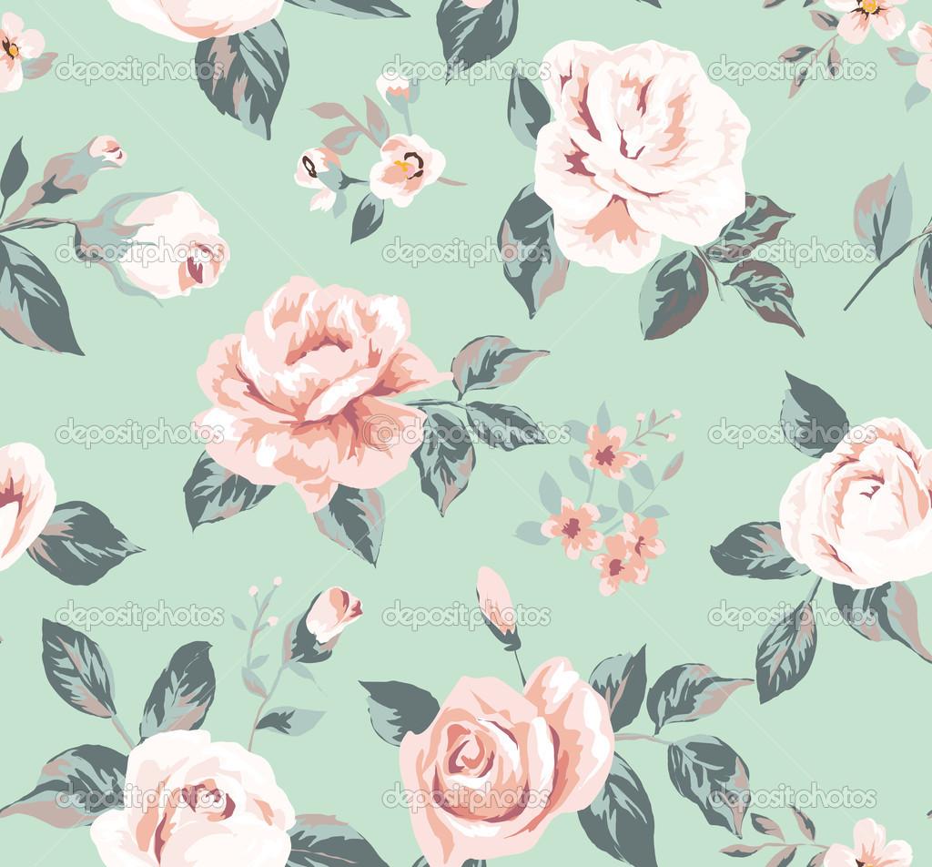 Wallpaper Pattern Vintage Flowers Amazing Wallpapers 1024x952