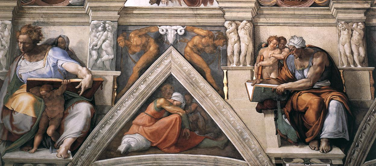 Michelangelo vs Leonardo da Vinci imgenes Ceiling of the Sistine 1248x550