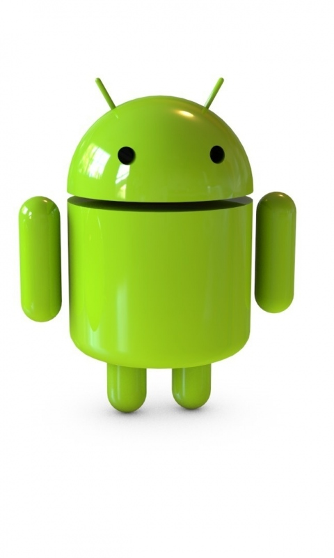 480x800 Wallpaper android robot glass 480x800