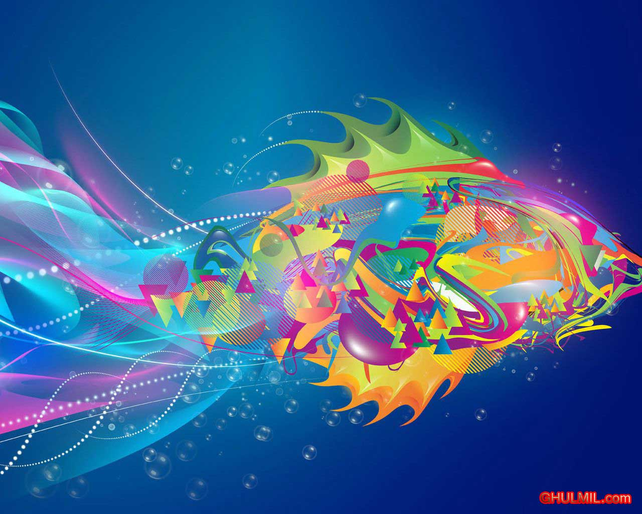 Download Colourful Fish Wallpaper E Entertainment 1280x1024