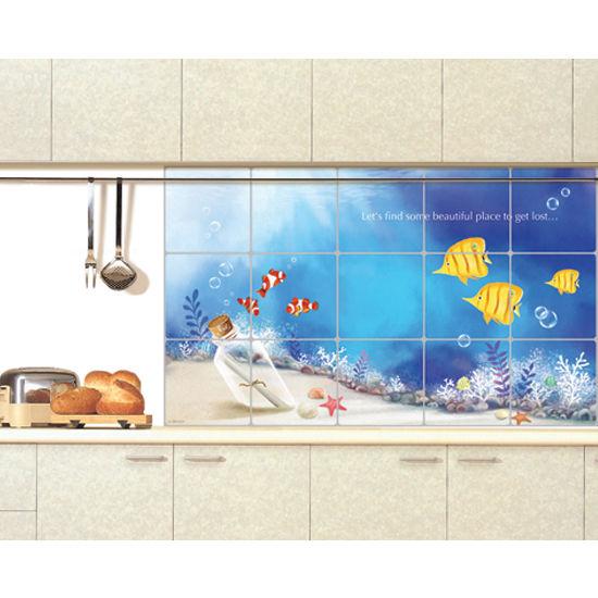 Adhesive Wallpaper for Kitchen Backsplash Washable Wall Decor eBay 550x550