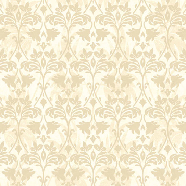 Cream and Gold Drybrush Damask Wallpaper   Wall Sticker Outlet 600x600