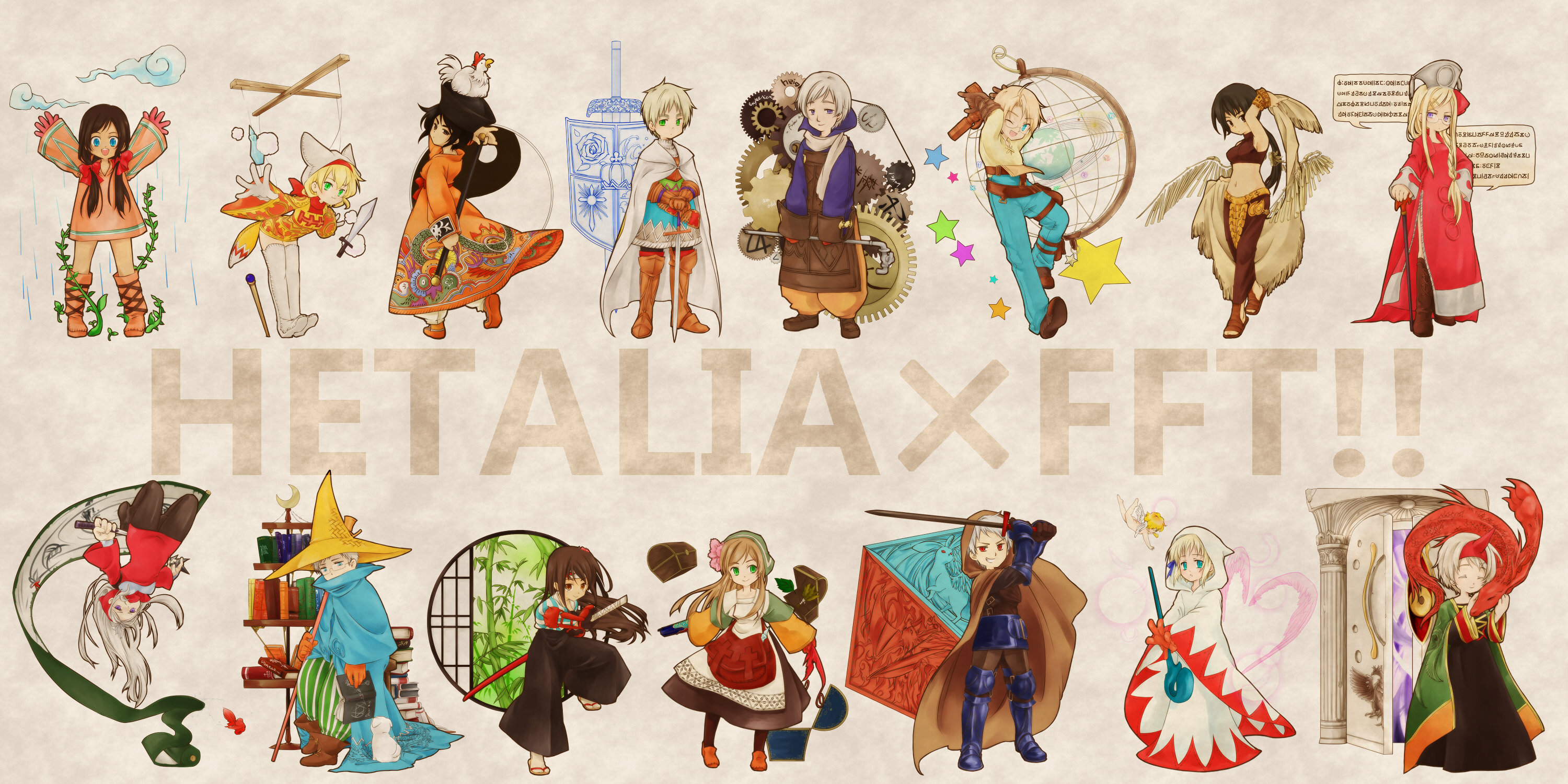 Axis Powers Hetalia wallpaper 3000x1500 38617 WallpaperUP 3000x1500