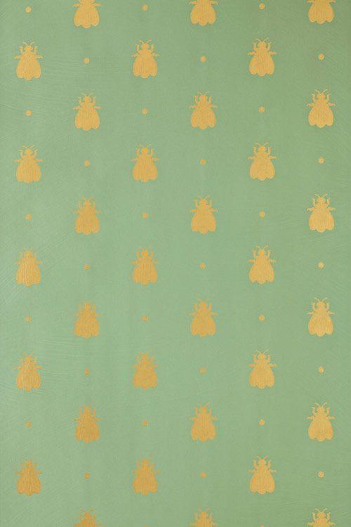 golden bumble bees farrow ball wallpaper patterns Pinterest 500x750