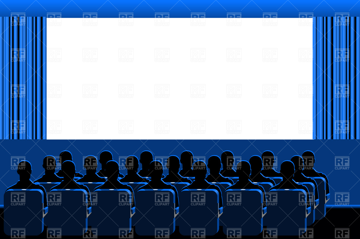 Movie theater   blue hall download royalty free vector clipart EPS 1200x798