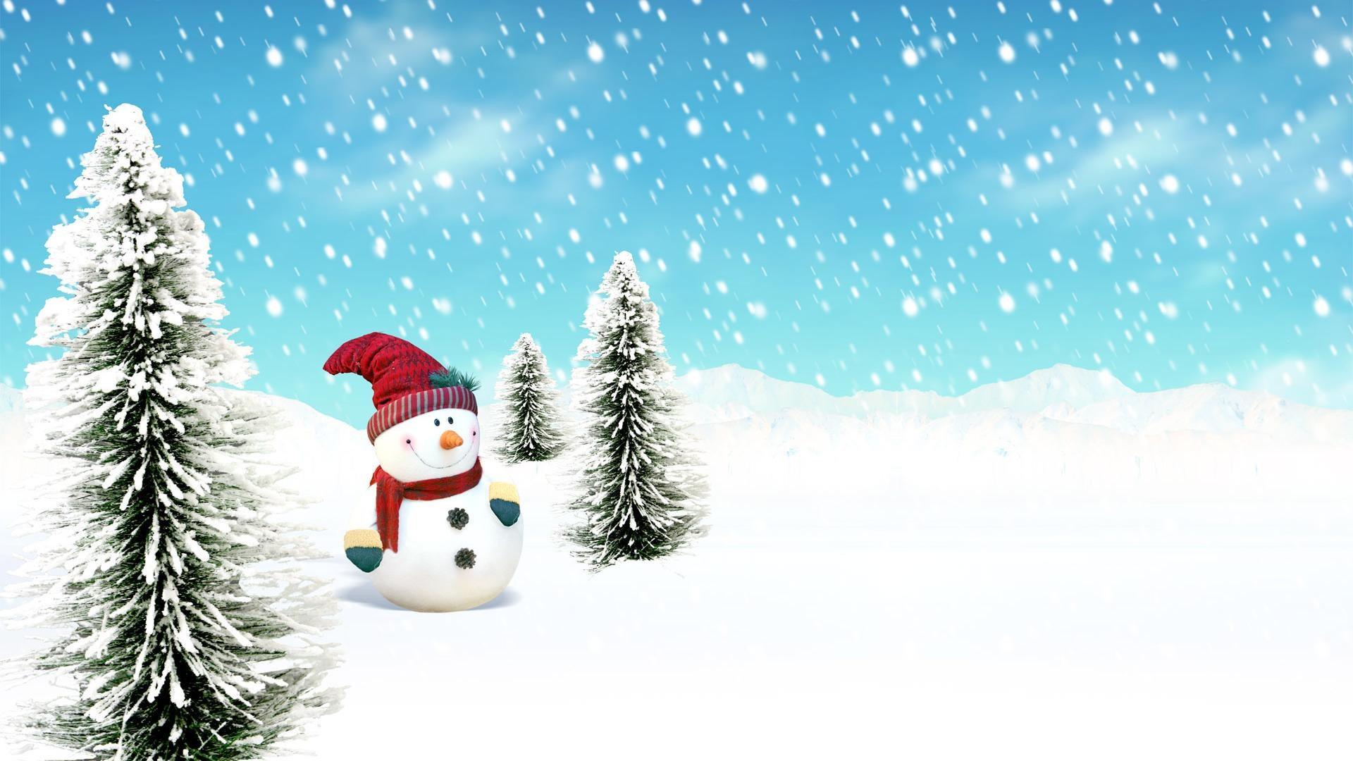 Christmas Snowman Wallpaper 1920x1080 8734 Wallpaper Cool 1920x1080