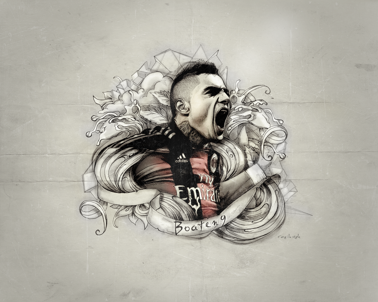 Kevin Prince Boateng Football Wallpaper 1280x1024