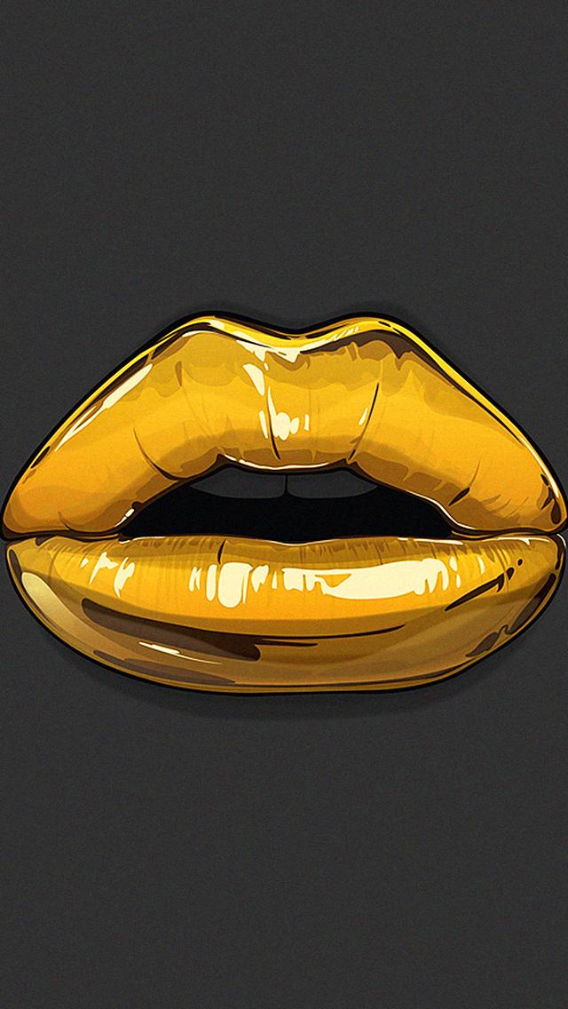 Free Download Golden Lips Bling Illustration Iphone 5 Wallpaper Ipod Wallpaper Hd 640x1136 For Your Desktop Mobile Tablet Explore 41 Gold Lips Wallpaper Red Lips Wallpaper Lips Wallpaper Hd