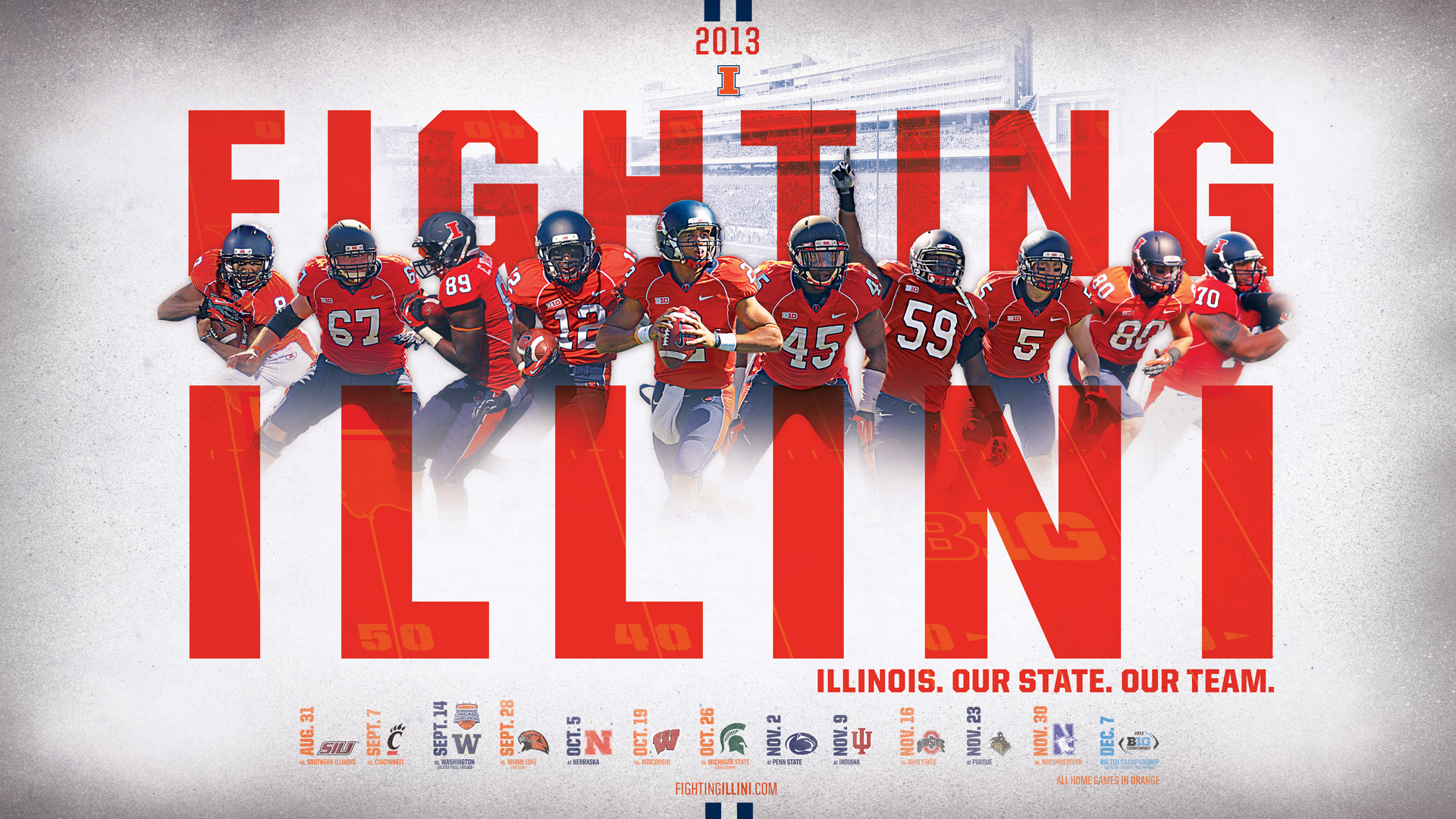download Illinois Fighting Illini Desktop Wallpapers 1920x1080