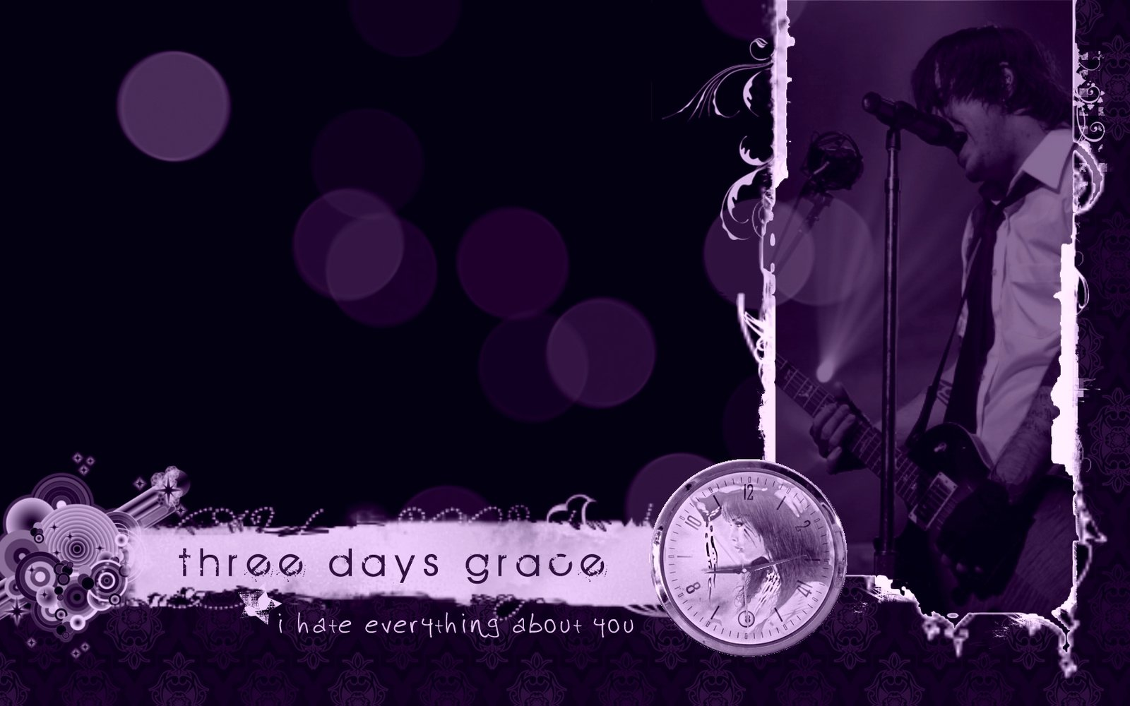 three days grace wallpaper 7 by flatlace fan art wallpaper other 2011 1600x1000