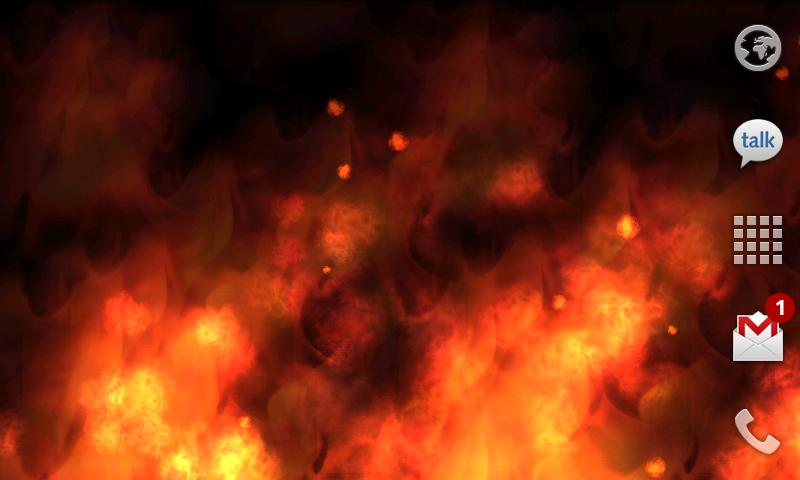 KF Flames Live Wallpaper   Android Market 800x480
