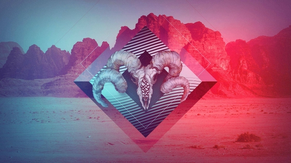 artwork gradient indie Desert Wallpapers Desktop Wallpapers 600x337