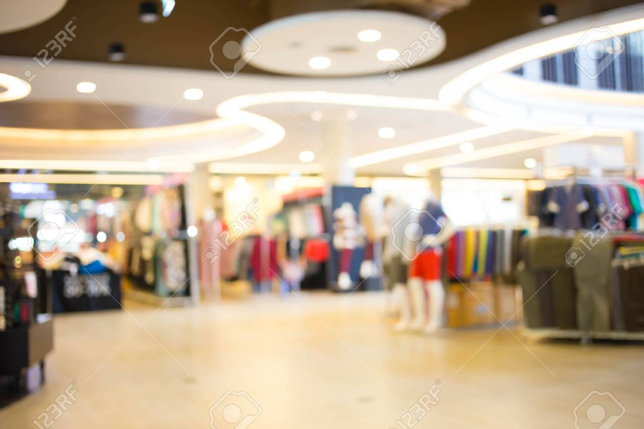 Blurred Shopping Mall Background Stock Photo Picture And Royalty 1300x866