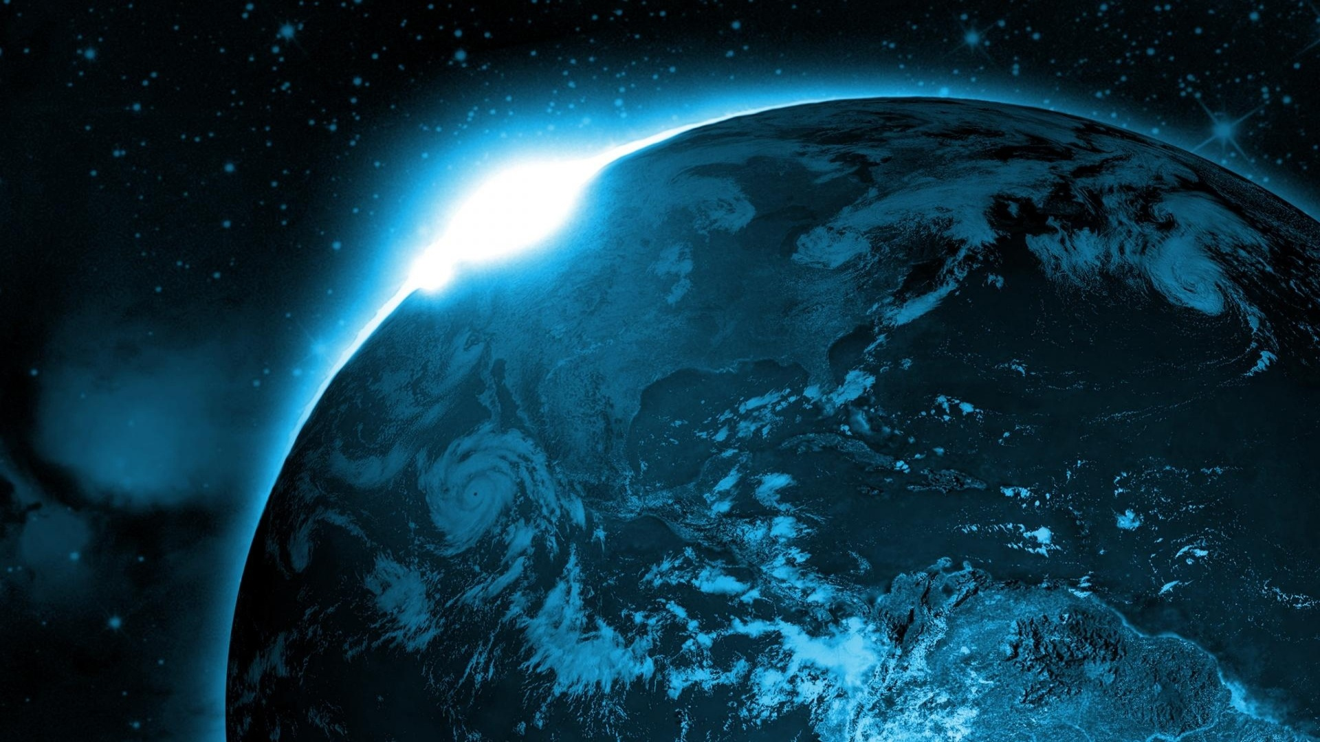 Home Others Space earth sunrise from space wallpaper 1920x1080