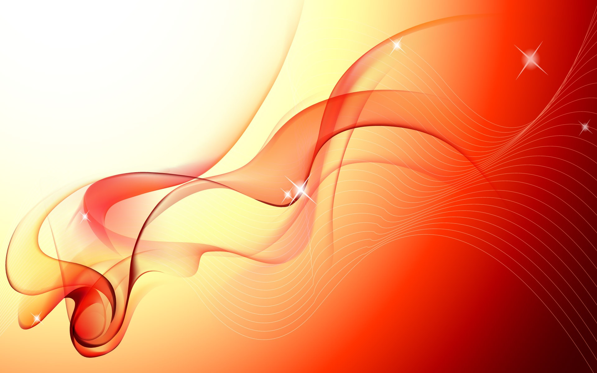Orange Ribbon desktop wallpaper 1920x1200