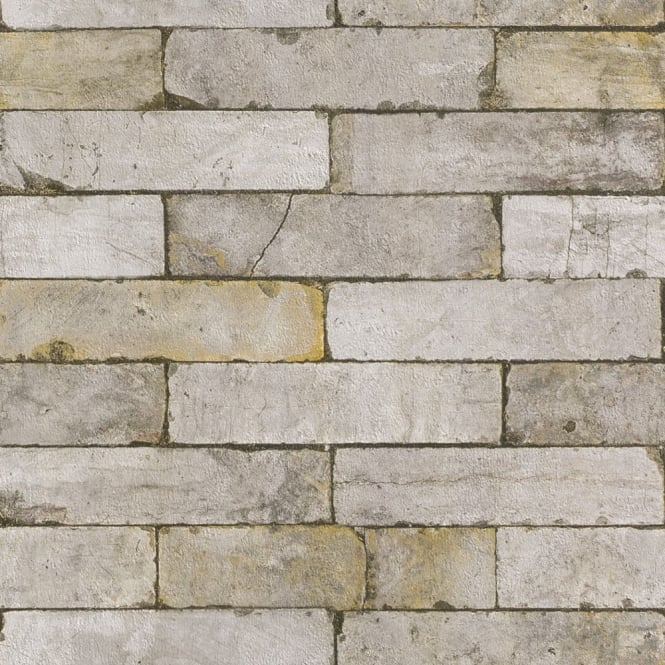 Stone Wall Realistic Faux Effect Embossed Textured Wallpaper 203608 665x665