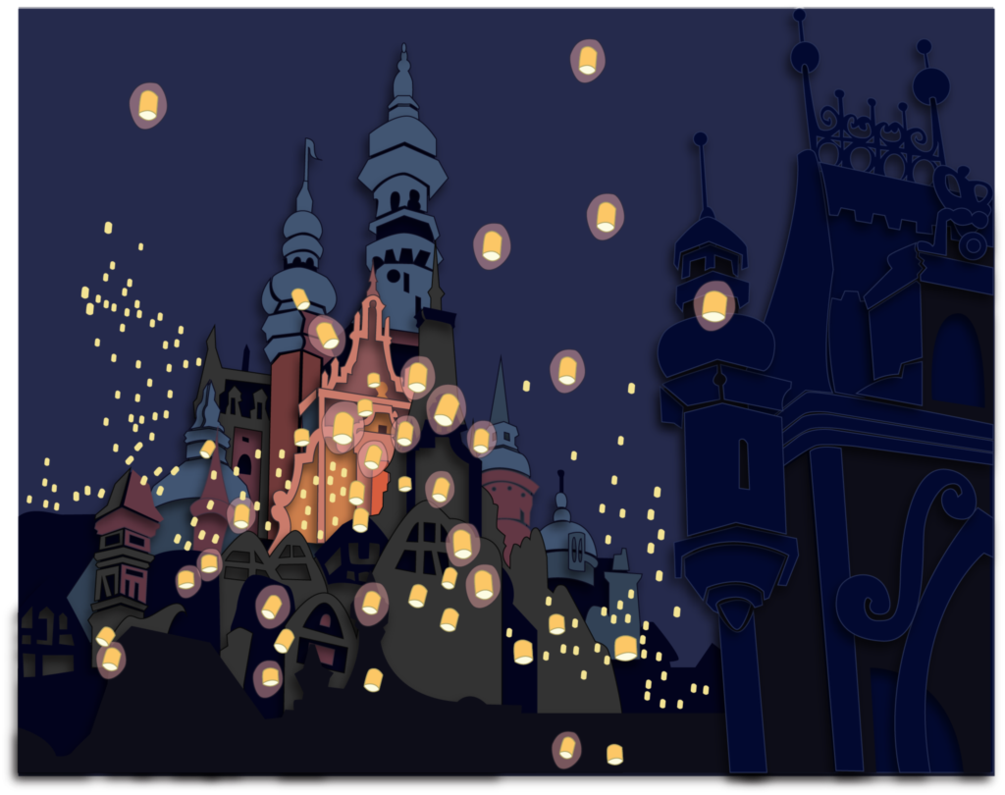 Tangled Wallpaper Lanterns Commission 1005x795