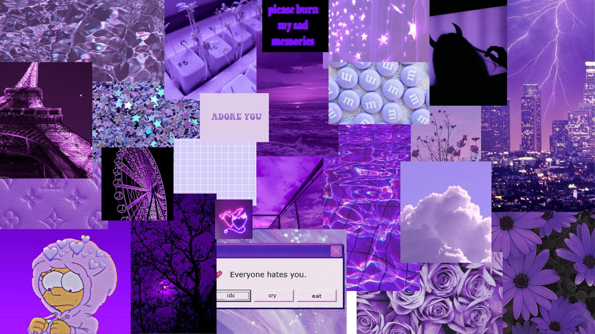 Sad Purple Aesthetic Desktop Wallpapers   Top Sad Purple 1920x1080