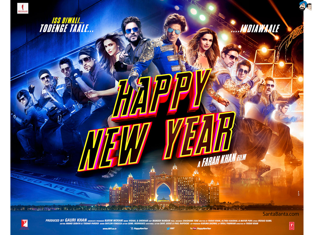 Happy New Year Movie 2014 Hd Wallpapers Download Love 1024x768