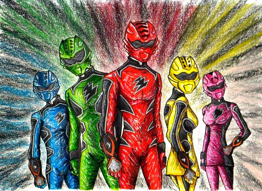 power rangers jungle fury by greenlynxdvd 840x614